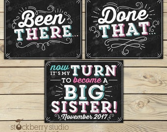 4th Pregnancy Announcement Sign - Been There Done That - Photo Props - Pregnancy Reveal - 4th Baby Announcement Sign - Were Expecting