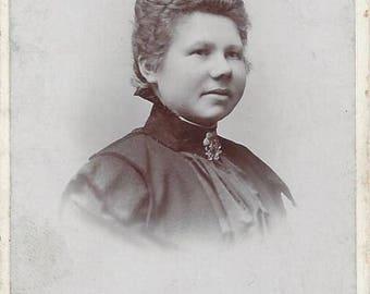 Vintage Woman Carte de Visite (CDV)  Danish Photographer Peter Christensen, 1800s