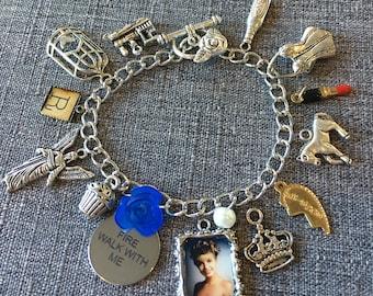 Fire Walk With Me Custom Charm Bracelet w/ FWWM charm & Laura Portrait, plus you chose 12 additional Twin Peaks inspired charms