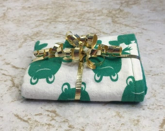 Frannie The Frog Burp Cloth - Ready to Ship by PiquantDesigns
