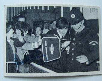 Vintage Beatles Trading Card 1960s Paul McCartney Bubble Gum Trading Card