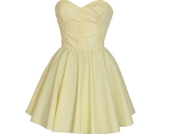 Clearance Sale - Pastel Yellow Party Dress