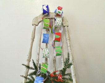 Printable Christmas decoration, Christmas instant download, Christmas printable, Paper chain, DIY Christmas decorations,  Crafts for kids