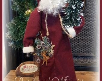 Primitive Santa, Prim Santa, santa, christmas santa, primtiive christmas, santa claus, primitive holiday