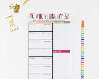 Meal Planner, Meal Planning Printable, Digital Download Planner, Weekly Meal Planner, Grocery List, Meal Prep, Organization Printable