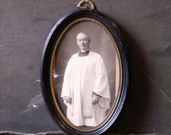 Vintage Framed Priest Photo, Reverend George Joseph Sutherland, 1934