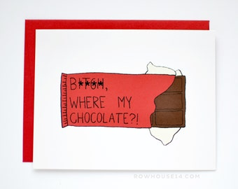 Valentine Card - Funny Valentines Card - Mature Valentine's Day Card - Anti-Valentine's Day Card - Valentines Card for Friend