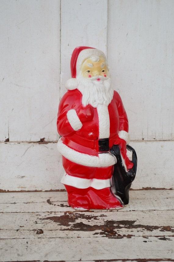 Vintage santa claus plastic blow mold empire light up