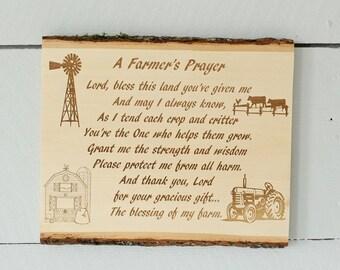 A Farmers Prayer Basswood Plaque FarmLife Farmhouse Decor