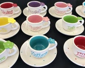 Child's Personalized tea cup party favor