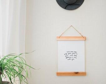 Hand-Lettered Custom Lyrics Canvas