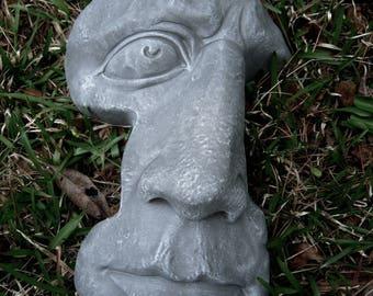 Exceptional Rock Face, Concrete Garden Face, Cement Rock Face, Garden Decor, Concrete  Statues