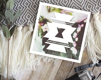 Aztec Art Print With Florals - Gift