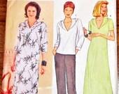 Butterick Sandra Betzina 3123 Hoody Jacket  Maxi Dress Caftan Top Women Misses Plus Size Sewing Pattern Bust 46 49 52 55 Uncut Factory Folds
