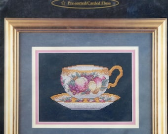 Classic | Counted Cross Stitch Kit | FRUIT TEACUP | Cross My Heart