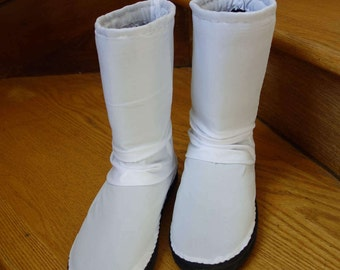 CUSTOM for MORGAN Star Wars costume Princess Leia Organa senatorial gown costume accessory boots to match Leia gown