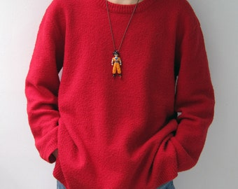 Goku - found figure upcycled necklace