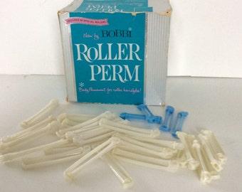 Vintage Permanent Wave Box / Advertising / Retro Box / Hairdresser / Roller Perm