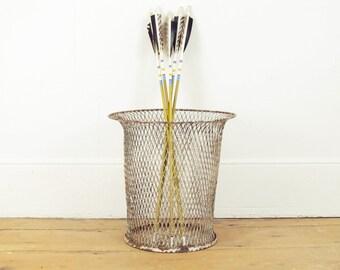waste basket,industrial waste bin,basket,mid century modern waste bin,paper bin, white steel circa 1900