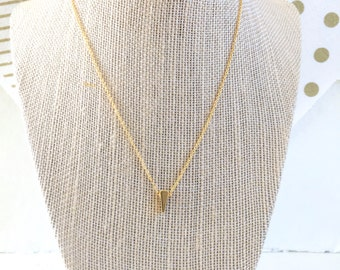 Tiny Triangle Necklace, Geometric, Minimalist, Simple Necklace, Layering Necklace, Gold, Delicate Chain