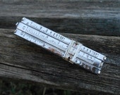 Vintage SLIDE RULE Tie Clip, Sterling Silver. RARE! Wedding, Men's, Groomsmen Gift, Dad, Father's Day, Anniversary, Mechanic, Math, Science