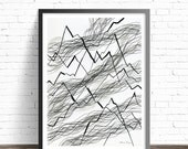 Minimalist Black and white Print. Abstract Art Prints. Line drawing print. Modern art. Minimalist print. Modern abstract art