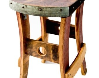 Wine Barrel Barstool