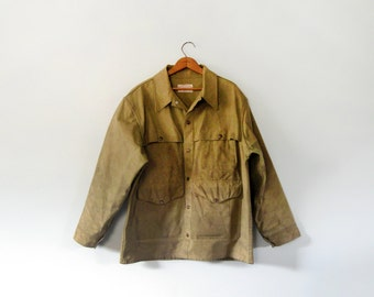 Vintage Filson Oil Tin Cloth Cruiser Coat / Jacket / Mackinaw