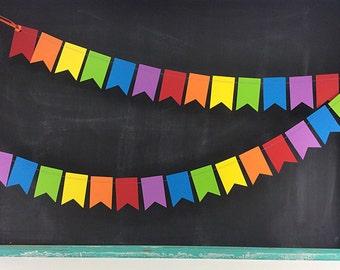 Rainbows Petite Flags 6ft. Garland: Rainbow Birthday, Art Birthday Party, 1st Birthday Girl, 1st Birthday Boy, Flag Garland, Circus Birthday