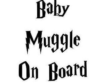 Baby Muggle on Board sticker