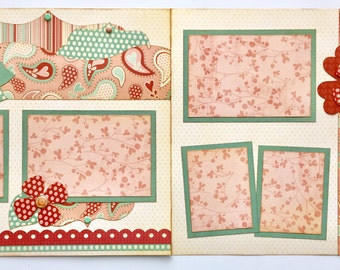 Love and Adore Premade 2 Page 12x12 Scrapbook Layout