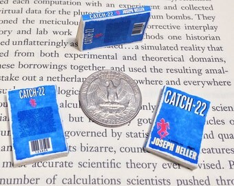 SALE - Miniature Book / Catch-22 by Joseph Heller / Tiny Book / 1:6 sixth scale mini book / playscale / Vintage Library / American Fiction