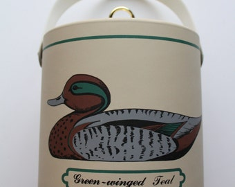 Vintage Georges Briard Green-Winged Teal Duck Ice Bucket 1960s
