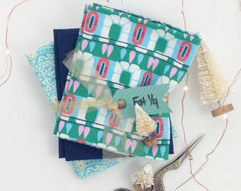 Fat Quarter Bundle, Amy Butler Fabric, Blue Fabric, Fabric By The Yard, Christmas Fabric, Choose Your Size, Holiday Fabric