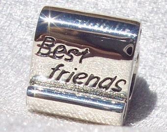 PANDORA Best Friends Scroll Charm FREE SHIPPING