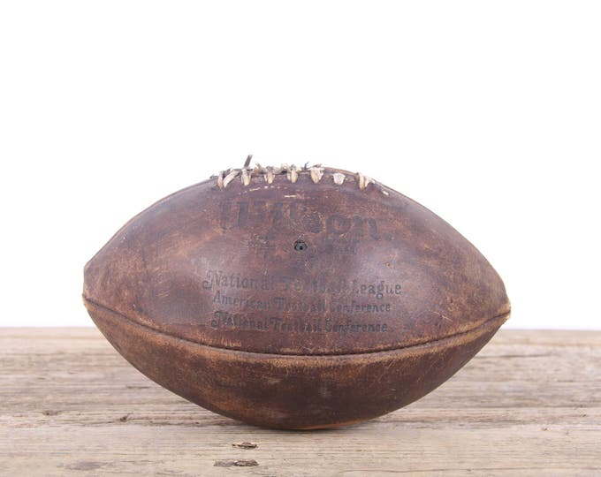 Vintage Leather Football / Football Decor / Old Football / Wilson Antique Football / NFL Football / Unique Mens Gift / Game Room Sports Room