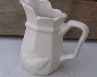 "Cream Goose Creamer, Vintage Dinnerware, 4 3/4"" Decorative Creamer, USA"