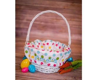 ON SALE Personalized Easter Basket Liner - Personalized Basket Liner For Easter - Easter Basket