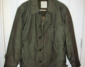 Vintage USN US Navy Cold Weather Permeable Deck Jacket Large Only 30 USD