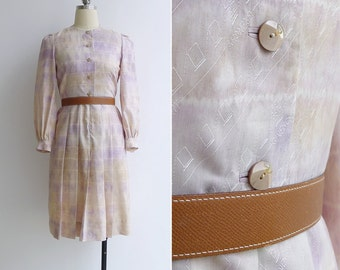 Vintage 80's 'Givenchy' Watercolor Pastels Tie Dye Dress XS or S