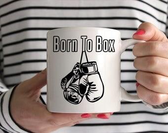 Born To Box Ceramic Mug