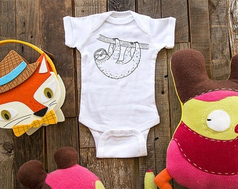 Sloth design5 - graphic printed on Infant Baby One-piece, Infant Tee, Toddler T-Shirts - Many sizes
