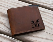 Mens Leather wallet, BiFold Wallet, Gifts for Him, Personalized Wallet, Mens Personalized, Crazy Horse Leather, Custom Wallet, Mens Wallet