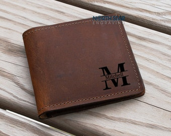Mens Leather wallet, Mens Personalized, Mens Bifold Wallet, Crazy Horse Leather, Leather Bi Fold Wallet, Anniversary gifts, Custom Wallet