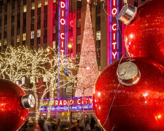 Christmas at Radio City Music Hall - New York at Christmas - Winter in NYC - New York City Photography