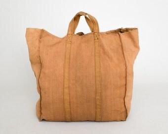 1960s Canvas Boat & Tote Workwear Handmade Custom XL Tote Shopper