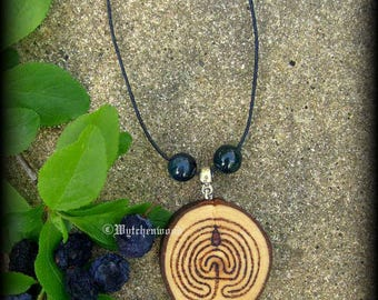 Druid Blackthorn Troy Pendant: Labyrinth, Witchcraft, Druid, Celtic, Wicca, Pagan