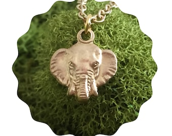 60% OFF SALE Gold elephant necklace - Elephant Charm - Lucky elephant -Gift for her - Ganesga Pendant, animal charity
