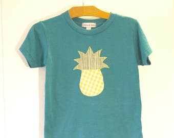 SALE: Kids Teal green pineapple T-shirt