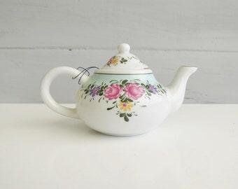 Porcelain Art Miniature Teapot - Special Edition Miniature Teapot - Floral Teapot - Small Teapot